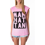 "Tally Weijl Pink ""Manhattan"" Print Top"