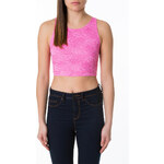 Tally Weijl Pink Floral Lace Crop Top