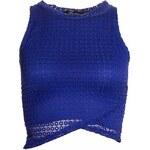 Dámský crop top se vzorem - modrá - Uni (S-L)Glamorous by Glam