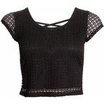 Dámský crop top s volnými zády - černá - Uni (S-L)Glamorous by Glam