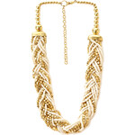 Forever 21 Eclectic Braided Bead Necklace