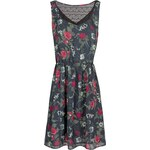 Mango Lace panels floral dress