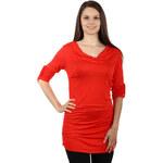 TopMode Klasické jednoduché tričko červená