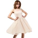 Béžové šaty MOE 148 M