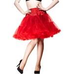 """Spodnička červená 23"""" - nad kolena, luxusní provedení, max. objem"""