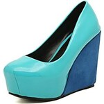 LightInTheBox Patent Leather Women's Wedge Heel Pumps Shoes