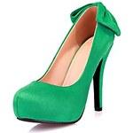 LightInTheBox Suede Women's Stiletto Heel Platform Heels with Bowknot Shoes (More Colors)