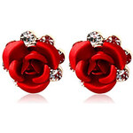 LightInTheBox High Quality Alloy 18K Gold Plated with Cubic Zirconia Rose Stud Earrings
