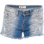 Terranova Patterned denim shorts