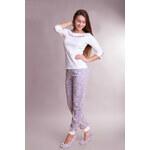 Victoriy Bavlněné dámské pyžamo Panter white XL