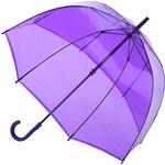 Fulton Dámský průhledný holový deštník Birdcage 1 Lavender L041-2