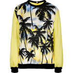 Fausto Puglisi Stretch Cotton Palm Print Sweatshirt
