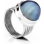 Buka Jewelry BUKA Perlový prsten Mabe – modrá 447