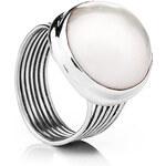 Buka Jewelry BUKA Perlový prsten Mabe – bílá 446