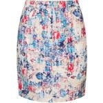 Topshop MOTO Floral Denim Midi Skirt