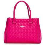 Guess Elegantní business kabelka Rylee Quilted Satchel Pink