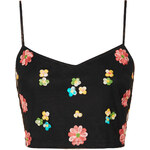 Topshop Embroidered Floral Cami