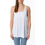 Tally Weijl White Sheer Racer Back Top