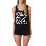 "Tally Weijl Black Basketball ""Tally 84"" Crop Top"