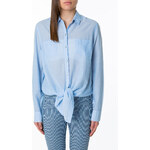 Tally Weijl Blue Chambray Tie Up Shirt