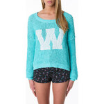 "Tally Weijl Green ""W"" Embroidered Knit Jumper"