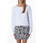Tally Weijl White Quilted Crop Sweater