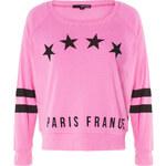 "Tally Weijl Pink ""Paris"" Print Sweater"