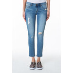 Tally Weijl Mid Blue Ripped Ankle Denim Jeans
