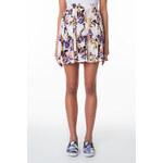Tally Weijl White Floral Print Skater Skirt