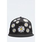 Tally Weijl Black Daisy Print Snapback Hat