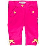 MMDadak Dívčí kalhoty s mašličkami - růžové