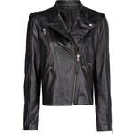 Mango Safety pin leather biker jacket
