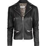 Mango Studded flag leather jacket