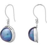 Buka Jewelry BUKA Perlové náušice Mabe – modrá 097