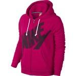 Nike RALLY FZ HOODY MEZZO LOGO růžová S