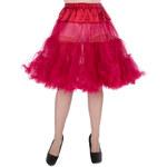 Lady Vintage Retro Spodnička Červená 58 cm Velikost: L