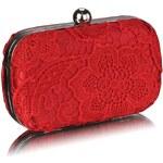 LS Fashion společenská kabelka LS0110 červená
