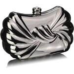 LS Fashion společenská kabelka LS0274 stříbrná