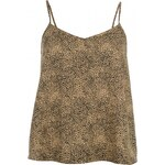 Golddigga V Neck Cami Ladies, animal