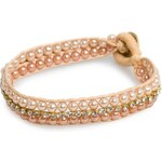 Mango STRASS AND PEARLY BEADS BRACELET
