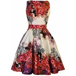 Lady V London Red Rose Floral Collage Cream 38