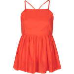 Topshop High Neck Embroidered Cami