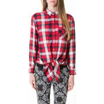 Tally Weijl Red & White Checked Shirt