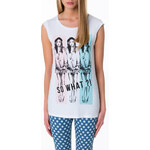 "Tally Weijl White ""So What"" Print Top"