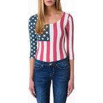 "Tally Weijl Colorful ""USA"" Print Bodysuit"