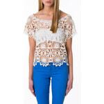 Tally Weijl White Knitted Crochet Top