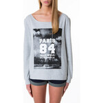 "Tally Weijl Grey ""Paris"" Print Sweater"