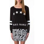 "Tally Weijl Black ""Paris"" Print Sweater"