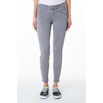 Tally Weijl Grey High Waist Ankle Pants with Zip