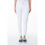 Tally Weijl White High Waist Ankle Pants with Zip